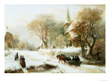 Going to Church Giclee Print by Hermann Kauffmann