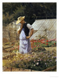 A Small Problem in the Corner of the Rosary Giclee Print by Henri Adolphe Laissement