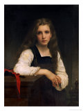 The Fair Spinner Art by William Adolphe Bouguereau