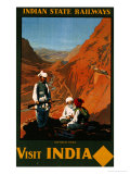 Visit India, Indian State Railways, circa 1930 Giclee Print by William Spencer Bagdatopoulus