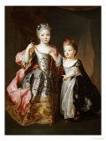 Portrait of Two Young Girls Giclee Print by Alexis-simon Belle