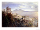The Bay of Naples Reproduction procédé giclée par Oswald Achenbach