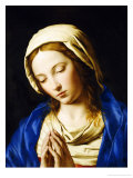 The Madonna, Bust Length, at Prayer Impressão giclée por Giovanni Battista Salvi da Sassoferrato
