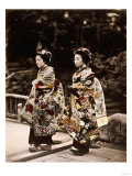 Japanese Costumes, 1880s Prints