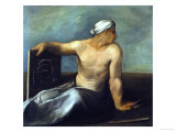 A Personification of Geometry Giclée-tryk af Dosso Dossi