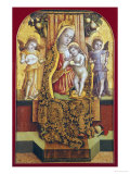 The Madonna and Child Enthroned with Music-Making Angels Giclée-tryk af Vittore Crivelli