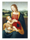 Madonna and Child Before a Landscape Posters by Giovanni Sogliani