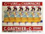 Gds Vins de Champagne, ca. 1910, Französisch Poster von Casimir Brau
