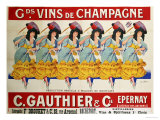 Gds Vins de Champagne, circa 1910 Giclee Print by Casimir Brau