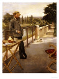 An Elegant Man on a Terrace, 1885 Prints by Henri Gervex