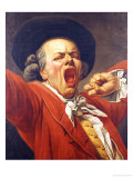 Self-Portrait as a Yawning Man, 1791 Giclee Print by Francois-joseph Ducreux