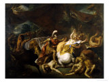 The Battle of the Lapithes and the Centaurs Premium Giclee Print by Jean-francois De Troy