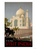 Visit India, the Taj Mahal, circa 1930 Giclee-trykk