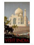Visit India, the Taj Mahal, circa 1930 - Giclee Baskı