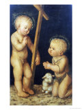 The Christ Child Blessing the Infant Saint John the Baptist Prints by Lucas Cranach the Elder