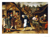 The Egg Dance Gicléetryck av Pieter Bruegel the Elder