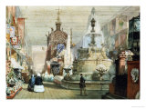 The British Gallery at the Great Exhibition, London 1851, with the Minton Stand on the Right Posters by Eugene Louis Lami