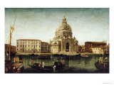 Santa Maria Della Salute, Venice, with Gondolas on the Grand Canal Prints by Michele Marieschi