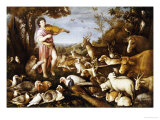Orpheus Charming the Animals Giclee Print by Leandro Da Ponte Bassano