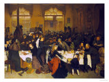 At the Railway Restaurant, Warsaw Giclee Print by Knut Ekvall