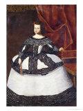 Portrait of Dona Elena Fernandez de Cordova, Aged Eight Wearing a White and Brown Embroidered Dress Posters by Juan Bautista Marti Nez Del Mazo