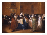 Ladies and Gentlemen in Carnival Costume in the Ridotto, Venice Giclee Print by Francesco Guardi