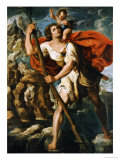 Saint Christopher Giclee Print by Orazio Borgianni