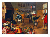 The Monkey&#39;s Cooks Gicl&#233;e-Druck von David Teniers the Younger