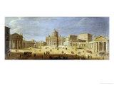 Piazza S. Pietro, Rome Giclee Print by  Vanvitelli (Gaspar van Wittel)