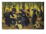 The Picnic, Dyrehaven, 1883 Giclee Print by Wenzel Thornoe