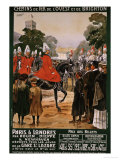 Paris a Londres, 1908 Giclee Print by Maurice Toussaint