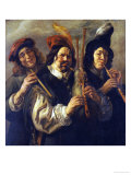 Three Musicians Print by Jacob Jordaens
