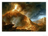 The Eruption of Vesuvius, 1768 Giclee Print by Francesco Fidanza