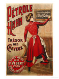 Petrole Hahn, circa 1910 Lmina gicle por Henri de Toulouse-Lautrec