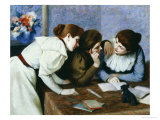 The Lesson Print by Federico Zandomeneghi