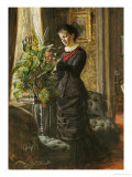 Portrait of Fru Lisen Samson, Nee Hirsch, Arranging Flowers at a Window, 1881 Giclee Print by Anders Leonard Zorn