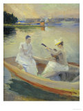 Summer Evening, Borga Harbour, 1889 Poster by Albert Edelfelt
