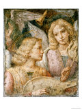 Music-Making Angels, a Fragment Prints by Bernardino Luini