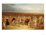 The Golfers, a Grand Match Giclee Print by Charles Lee