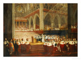 The Coronation of Queen Victoria, circa 1838 Giclee Print by Edmund Thomas Parris