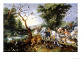 Animals Entering Noah&#39;s Ark Reproduction proc&#233;d&#233; gicl&#233;e par Jan Brueghel the Elder