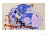 Two Ladies in a Salon, 1924 Giclée-trykk av Georges Barbier