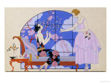 Two Ladies in a Salon, 1924 Giclee Print by Georges Barbier