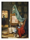 An Artists Studio, 1883 Giclee Print by Charles Josef Grips