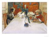 The Evening Meal Láminas por Carl Larsson
