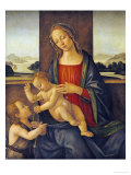 The Madonna and Child with the Infant Saint John the Baptist Poster von Sandro Botticelli