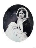 A Quarter Plate Ambrotype of a Mother and Child, circa 1860 Giclee Print