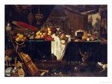 A Banquet Still Life Premium Giclee Print by Jan Frederick Goiber