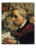 A Portrait of the Artist's Father Posters by Antonio Mancini