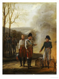 The Meeting of Napoleon and Francois II, Emperor of Austria, with the Prince of Lichtenstein Giclee Print by Pierre Paul Prud'hon